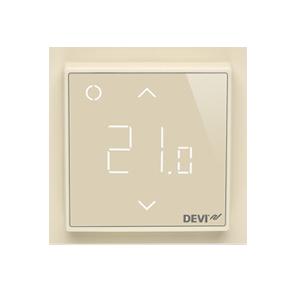 Терморегулятор DEVI DEVIreg™ Smart интеллектуальный с Wi-Fi, бежевый, 16А, 140F1142