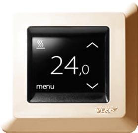 Терморегулятор для теплых полов Devireg Touch (арт. 140F1078) (терморегулятор DEVI Деви) цвет слоновая кость RAL 1013
