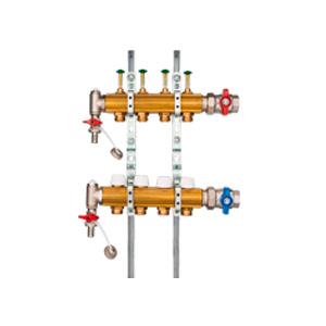 Коллектор для напольного отопления HUMMEL G 1 по EN 1264-4 (горизонтальное подключение) 2205000600