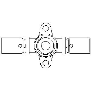 "Oventrop ""Cofit P"" -настен. шайба, прес. отвод с креплением удлин.форма, 16 x 16мм x Rp1/2 Артикул №: 1517243"