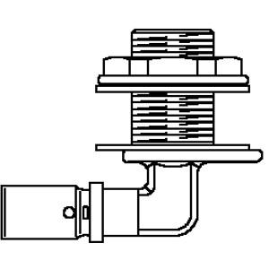 "Oventrop ""Cofit P"" -прес. угольник для прохода через стену прес. соед., 90°, 16мм x Rp1/2"" Артикул №: 1517343"