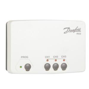 Приемник сигнала беспроводных термостатов Danfoss RX-3, 3 канал, арт. 087N7478