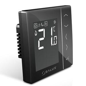 Цифровой, комнатный термостат для скрытой проводки Salus VS35B, черный
