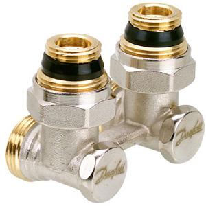 Нижняя гарнитура Danfoss для подключения радиаторов Клапан RLV-KS 3/4х1/2 угловой (арт. 003L0222)
