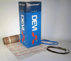Девимат DEVI DSVF-150 206 / 225 Вт 0,45 x 3 м 1,5 тонкие одножильные маты для теплого пола, 140F0330