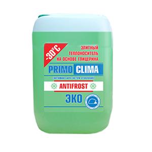 Элитный теплоноситель (антифриз) PRIMOCLIMA ANTIFROST на основе глицерина, масса брутто - 10 кг, для систем отопления