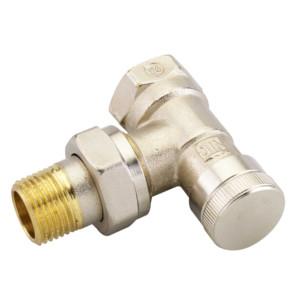 """Запорный радиаторный клапан (на обратку) Danfoss RLV-15 1/2"""" угловой никелированный (арт. 003L0143)"""