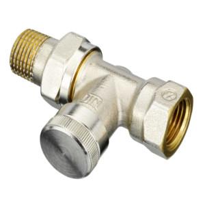 """Запорный радиаторный клапан (на обратку) Danfoss RLV-15 1/2"""" прямой никелированный (арт. 003L0144)"""